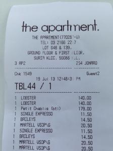 the apartment bill