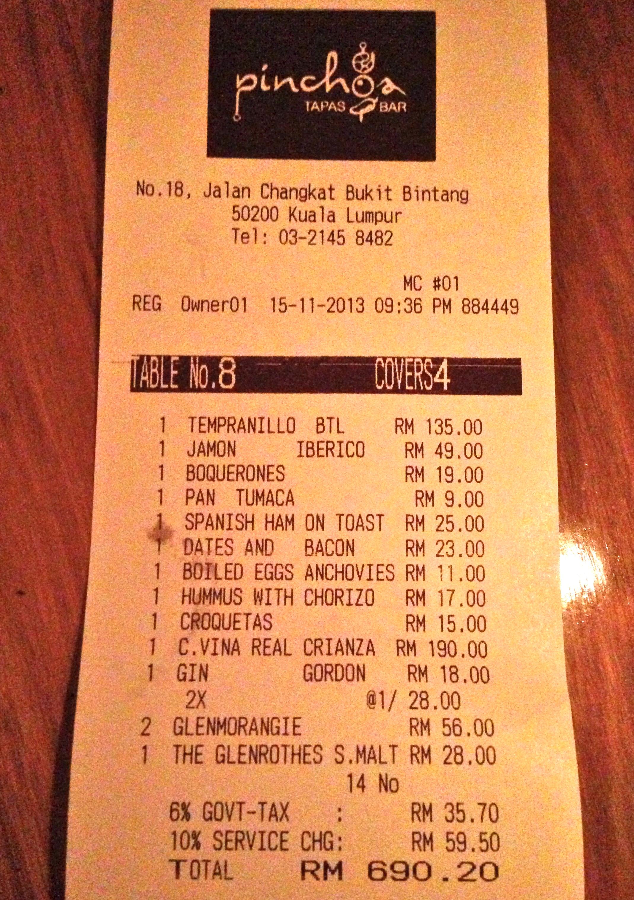 Tapas Restaurant Kuala Lumpur