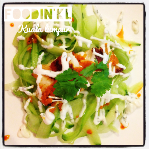 zucchini tagliatelles & fish