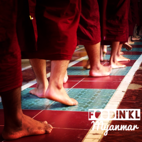 The monks procession